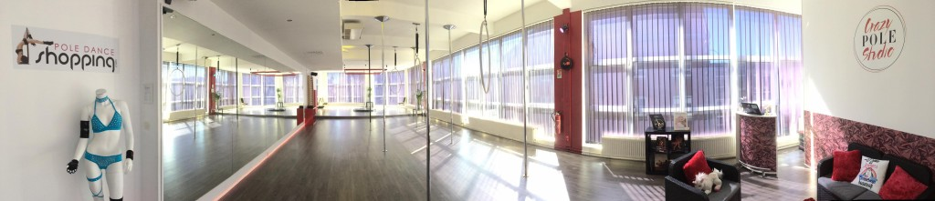 Le studio Crazy Pole en photo panoramique